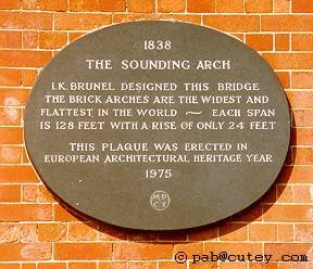 The bridge plaque